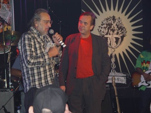 Jack Herer & Ben Dronkers at the cannabis cup award ceremony