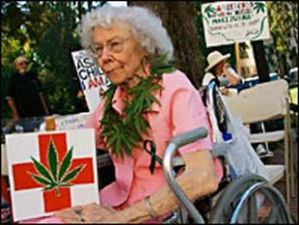 An elderly medicinal marijuana user