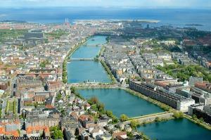 Copenhagen aerial by