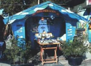A cannabis vendor in Christiania, in 2002